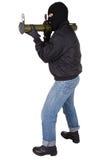 Τρομοκράτης με το εκτοξευτή χειροβομβίδων μπαζούκας Στοκ εικόνες με δικαίωμα ελεύθερης χρήσης