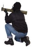 Τρομοκράτης με το εκτοξευτή χειροβομβίδων μπαζούκας Στοκ εικόνα με δικαίωμα ελεύθερης χρήσης