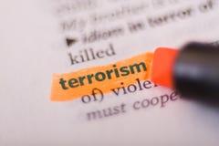 τρομοκρατία στοκ εικόνα