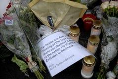ΤΡΟΜΟΣ ΠΟΥ ΕΠΙΤΙΘΕΤΑΙ ΣΕ PARIS_COPENHAGEN ΔΑΝΊΑ Στοκ Εικόνες