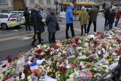 ΤΡΟΜΟΣ ΠΟΥ ΕΠΙΤΙΘΕΤΑΙ ΣΕ PARIS_COPENHAGEN ΔΑΝΊΑ Στοκ φωτογραφία με δικαίωμα ελεύθερης χρήσης