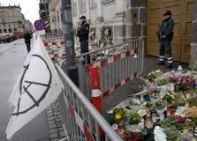 ΤΡΟΜΟΣ ΠΟΥ ΕΠΙΤΙΘΕΤΑΙ ΣΕ PARIS_COPENHAGEN ΔΑΝΊΑ Στοκ Εικόνα