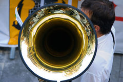 τρομπόνι μουσικών Στοκ εικόνες με δικαίωμα ελεύθερης χρήσης
