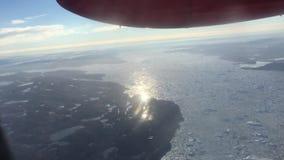 Τροπή σε φυγή στη Γροιλανδία από την εναέρια άποψη απόθεμα βίντεο
