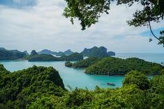 Τροπικά νησιά στο εθνικό θαλάσσιο πάρκο Angthong στην Ταϊλάνδη Στοκ εικόνες με δικαίωμα ελεύθερης χρήσης