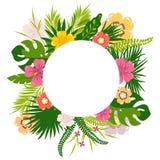 Τροπικά λουλούδια φύλλων Στοκ Φωτογραφίες