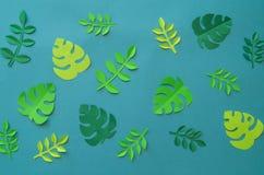Τροπικά πέταλα φύσης Handcrafted Papercraft Χόμπι του φύλλου εγγράφου Δημιουργικότητα παιδιών ` s Στοκ εικόνα με δικαίωμα ελεύθερης χρήσης