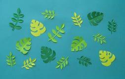 Τροπικά πέταλα φύσης Handcrafted Papercraft Χόμπι του φύλλου εγγράφου Δημιουργικότητα παιδιών ` s Στοκ εικόνες με δικαίωμα ελεύθερης χρήσης