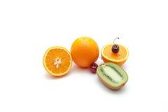 Τροπικά φρούτα και κεράσι Στοκ Εικόνες