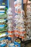 Τροπικά ψάρια ενυδρείων και plat στην αγορά Χονγκ Κονγκ goldfish Στοκ Φωτογραφίες