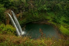 Τροπικές πτώσεις Kauai Χαβάη Wailua στοκ εικόνες με δικαίωμα ελεύθερης χρήσης