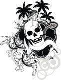 Τροπική δερματοστιξία φοινικών κρανίων της Χαβάης διανυσματική απεικόνιση