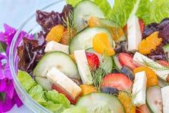 Τροπική θερινή σαλάτα Στοκ φωτογραφία με δικαίωμα ελεύθερης χρήσης