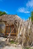 Τροπική καλύβα καμπινών νησιών Holbox στο Μεξικό στοκ εικόνες