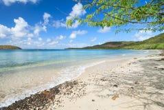 Τροπική καραϊβική παραλία στη Isla Culebra Στοκ Εικόνα