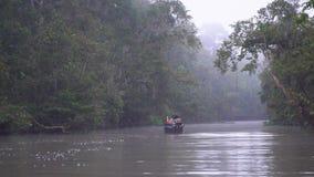 Τροπική κρουαζιέρα ποταμών πρωινού απόθεμα βίντεο