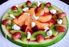 Τροπική πίτσα καρπουζιών φρούτων Στοκ Φωτογραφίες