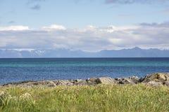 Τροπική παραλία σε Andenes στη Νορβηγία Στοκ Εικόνες