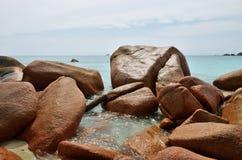 Τροπική παραλία στις Σεϋχέλλες Στοκ φωτογραφία με δικαίωμα ελεύθερης χρήσης