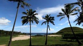 Τροπική παραλία με τις αρχαίες καταστροφές φιλμ μικρού μήκους