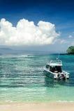 Τροπική παραλία. Νησί του Μπαλί, Ινδονησία Στοκ Φωτογραφίες