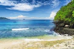 Τροπική παραλία. Νησί του Μπαλί, Ινδονησία Στοκ εικόνες με δικαίωμα ελεύθερης χρήσης
