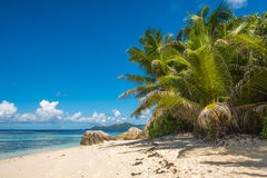 Τροπική παραλία νησιών, πηγή d'argent, Λα Digue, Σεϋχέλλες Στοκ φωτογραφίες με δικαίωμα ελεύθερης χρήσης