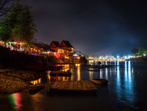 Τροπική παραλία στη νύχτα Μακρύ πλάνο έκθεσης Στοκ φωτογραφίες με δικαίωμα ελεύθερης χρήσης
