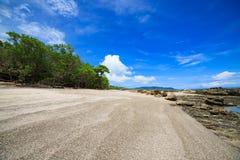 Τροπική παραλία στο santa Τερέζα Κόστα Ρίκα Στοκ Εικόνες