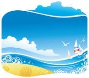 τροπική όψη θάλασσας ελεύθερη απεικόνιση δικαιώματος