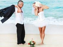 τροπικός γάμος Στοκ Εικόνα