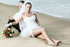 τροπικός γάμος Στοκ Εικόνες