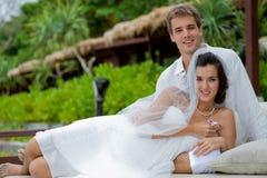 Τροπικός γάμος Στοκ εικόνα με δικαίωμα ελεύθερης χρήσης