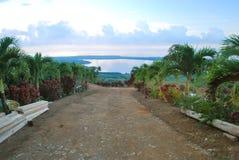 Τροπικός δρόμος στη Δομινικανή Δημοκρατία στοκ φωτογραφία