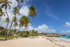Τροπικός κατώτατος κόλπος παραλιών στο νησί Καραϊβικής Μπαρμπάντος Στοκ φωτογραφία με δικαίωμα ελεύθερης χρήσης