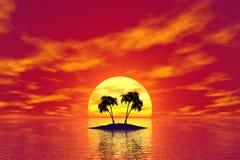 τροπικός κύκλος νησιών διανυσματική απεικόνιση