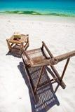 Τροπικός χαλαρώστε στην άσπρη παραλία Στοκ Φωτογραφίες