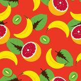 Τροπικό άνευ ραφής διανυσματικό σχέδιο φρούτων Στοκ Φωτογραφίες