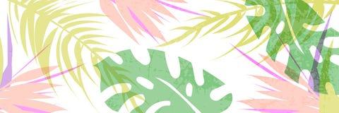 Τροπικό έμβλημα σχεδίων κολάζ στο της Χαβάης ύφος διανυσματική απεικόνιση