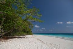 τροπικό λευκό άμμου παραλιών Στοκ Εικόνες