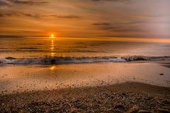 Τροπικό ηλιοβασίλεμα θάλασσας Στοκ Εικόνες
