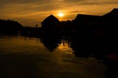 Τροπικό ηλιοβασίλεμα Koh Chang Στοκ φωτογραφία με δικαίωμα ελεύθερης χρήσης
