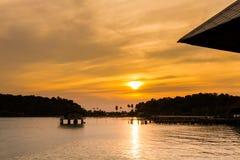 Τροπικό ηλιοβασίλεμα Koh Chang Στοκ εικόνα με δικαίωμα ελεύθερης χρήσης