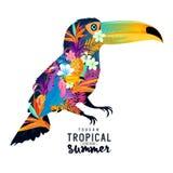 Τροπικό καλοκαίρι Toucan Στοκ Εικόνες