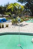Τροπικό μίνι γήπεδο του γκολφ Στοκ Εικόνες