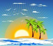 τροπικό νησί διανυσματική απεικόνιση