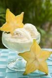 Τροπικό παγωτό Starfruit Στοκ Εικόνες