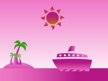 Τροπικό ροζ νησιών Στοκ Εικόνα
