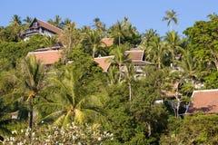 Τροπικό σπίτι παραλιών Koh Samui, Ταϊλάνδη νησιών Στοκ φωτογραφία με δικαίωμα ελεύθερης χρήσης
