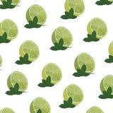 Τροπικό σχέδιο με τα λεμόνια Στοκ Εικόνα